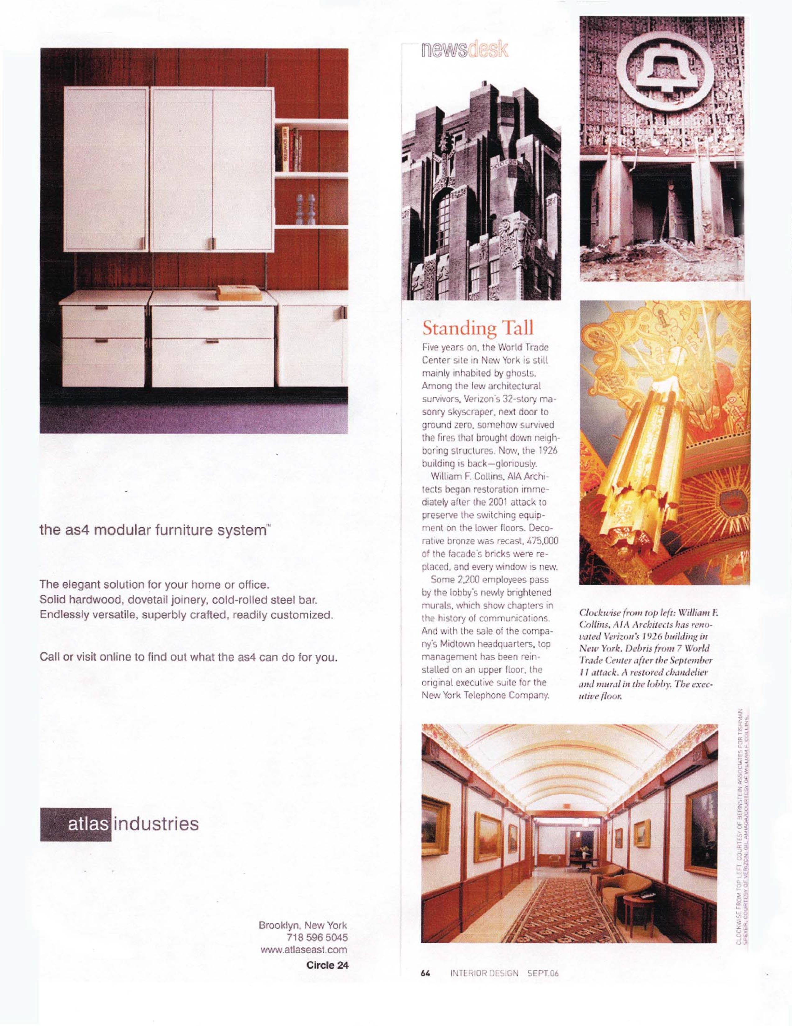 Interior Design Article U2013 Verizon Barclay Vesey Building